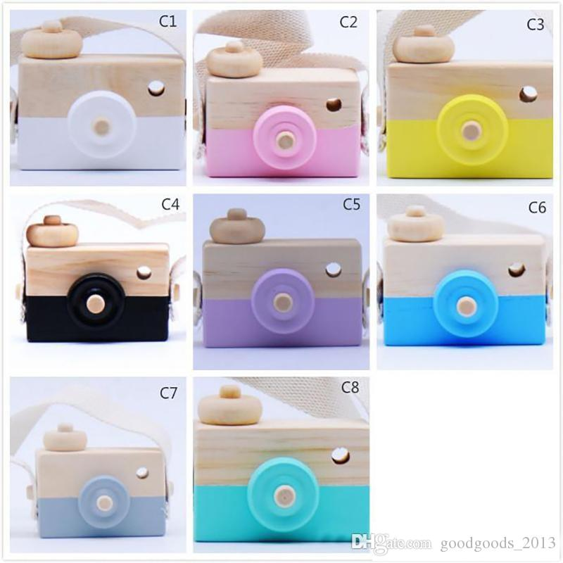 INS Novelty Toys for Kids Baby Wooden Toy Camera Photography Props Mini Toy Baby Cute Safe Natural Birthday Gift Room Decoration b1477