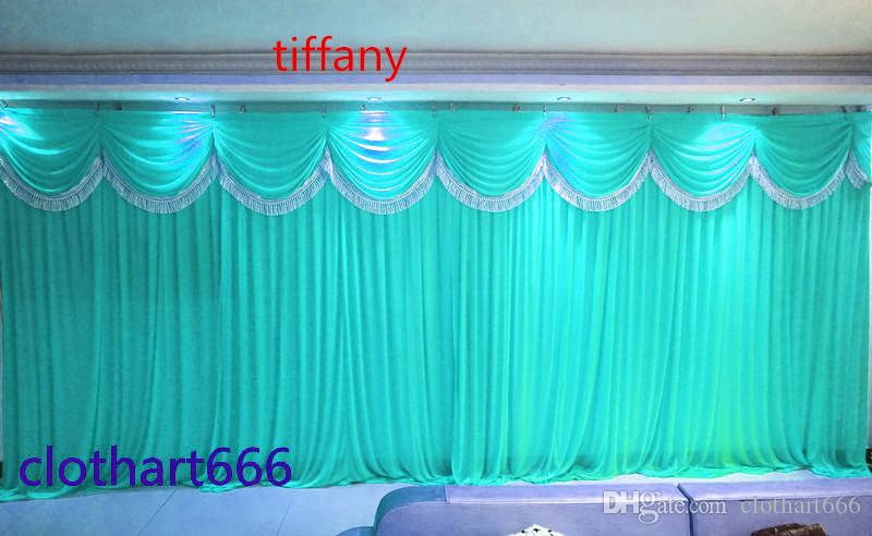 3M*6M backdrop wedding backcloth With Swags party curtain Wedding Party Stage Celebration Background graduation stage back cloth