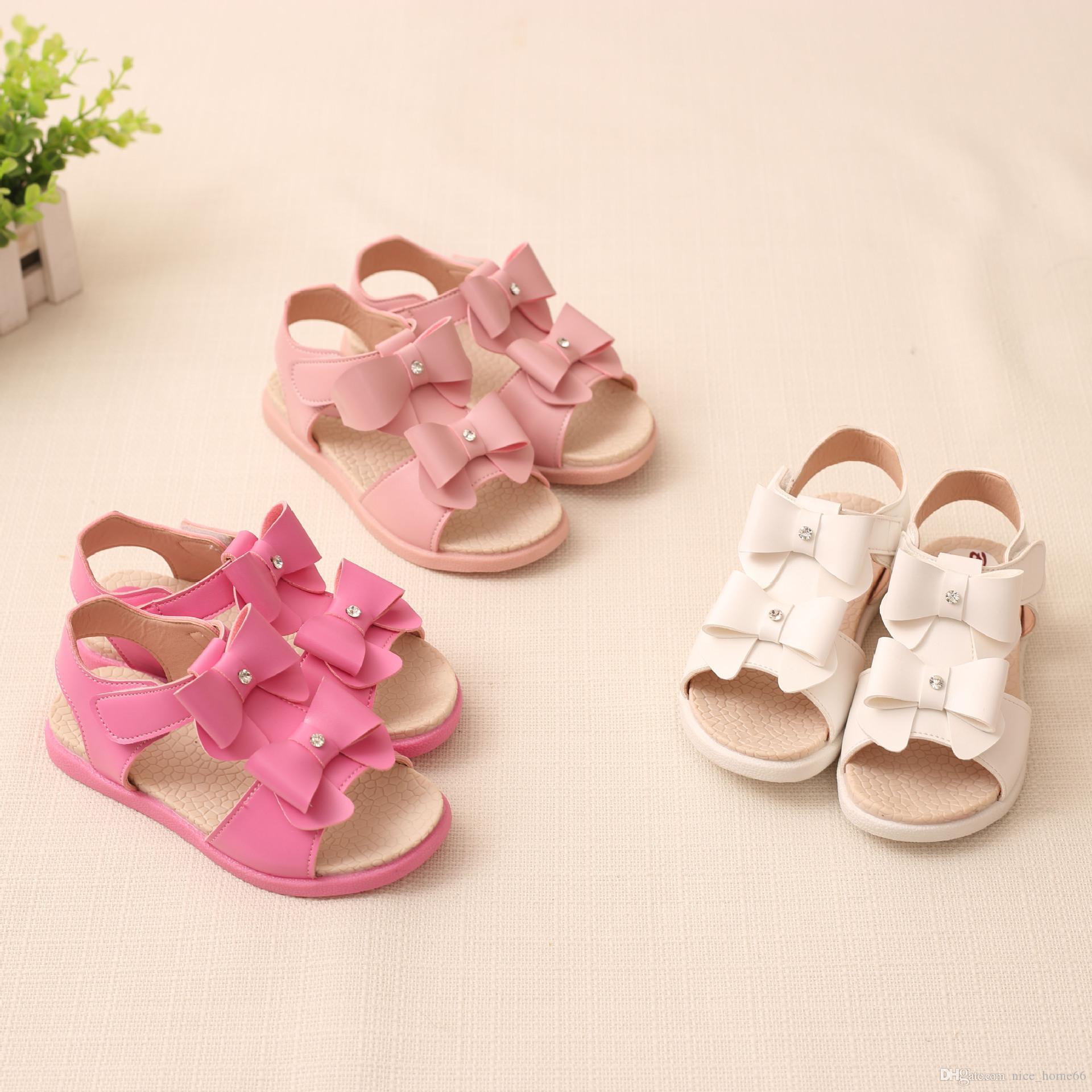 48c8a02bf Compre Sandalia Para Niñas Pajarita Zapatos De Princesa Zapatos De Bebé Sandalias  Para Niños Zapatos Para Niños Sandalias De Verano Para Niñas Calzado Para  ...