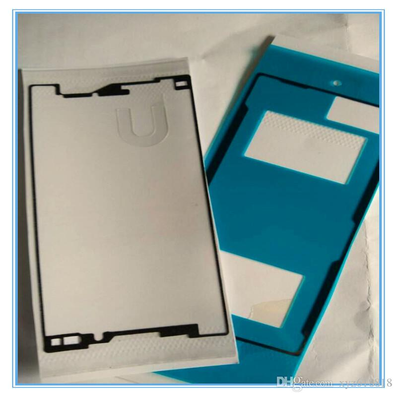 =New For Sony Xperia Z5 mini Compact E5803 E5823 LCD Front Frame+ Rear Battery Door Back Cover Housing Adhesive Glue Sticker Tape