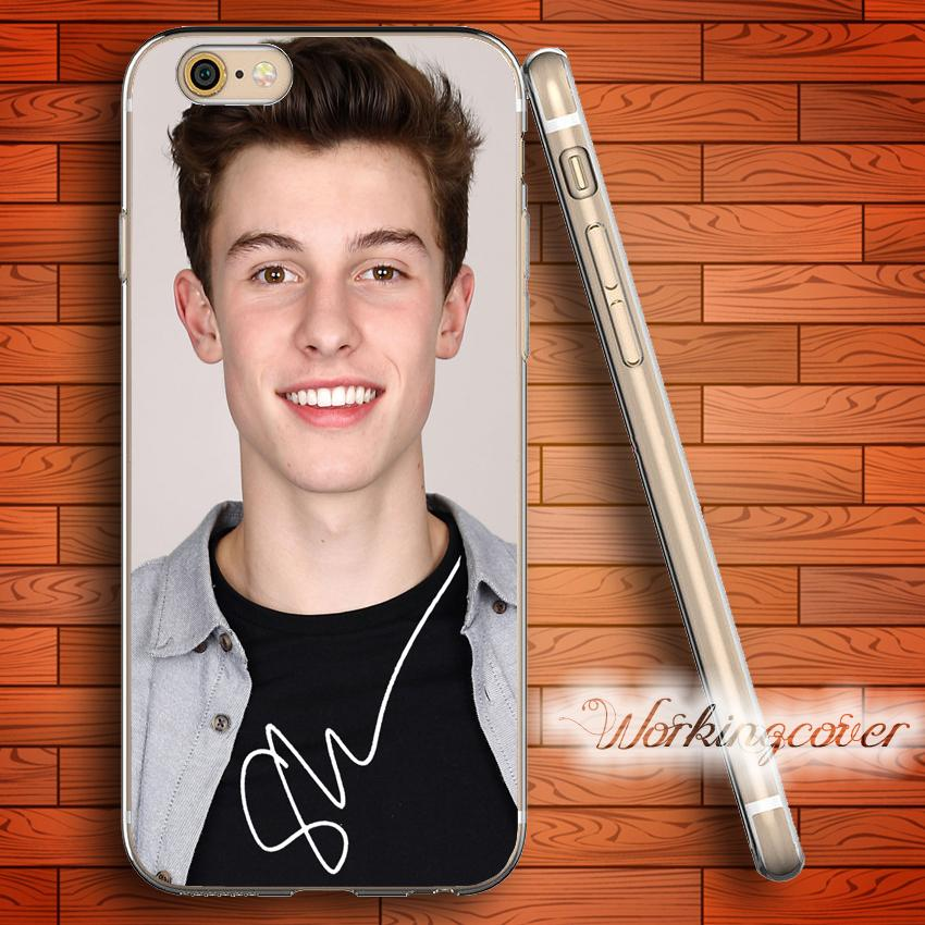 quality design 9fb9a c9d77 Coque Shawn Mendes Soft Clear TPU Case for iPhone 6 6S 7 Plus 5S SE 5 5C 4S  4 Case Silicone Cover.