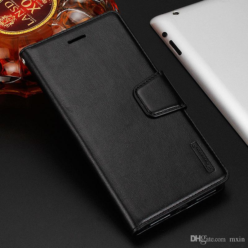 Hanman Sheepskin Wallet PU Flip Leather Stand Case Cover For HTC U11 Plus Sony XZ1 XA1 Plus Compact XZ Premium LG V20 V30 With Retail Box