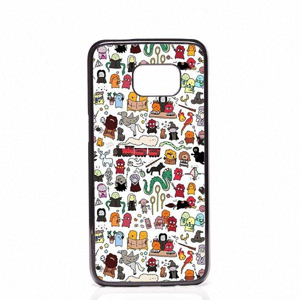 sale retailer 4fcb0 27758 Harry Potter Doodle Phone Covers Shells Hard Plastic Cases For Samsung  Galaxy S4 S5 MINI S6 S7 edge S8 S8 Plus