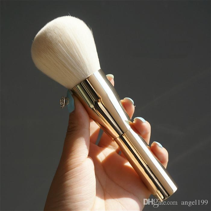 Hot!! High Quality Soft Powder Brushes Makeup Brushes Blush Golden Big Size Foundation Comestic Tools DHL