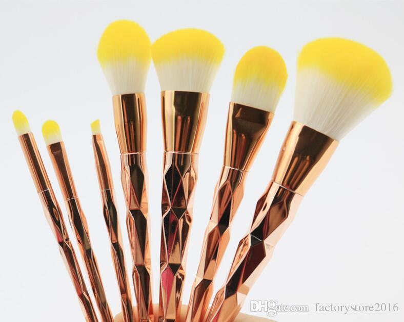 جديد رخيصة فرشاة كيت المهنية فاندر 7 قطع كريم الطاقة فرش ماكياج متعدد الأغراض أدوات التجميل النفخة دفعة كابوكي الخدود