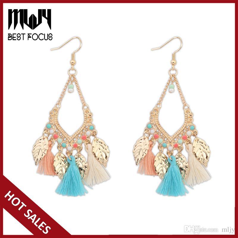 2019 Mljy New Jewelry Bohemian Earrings For Women Crystal Beads By