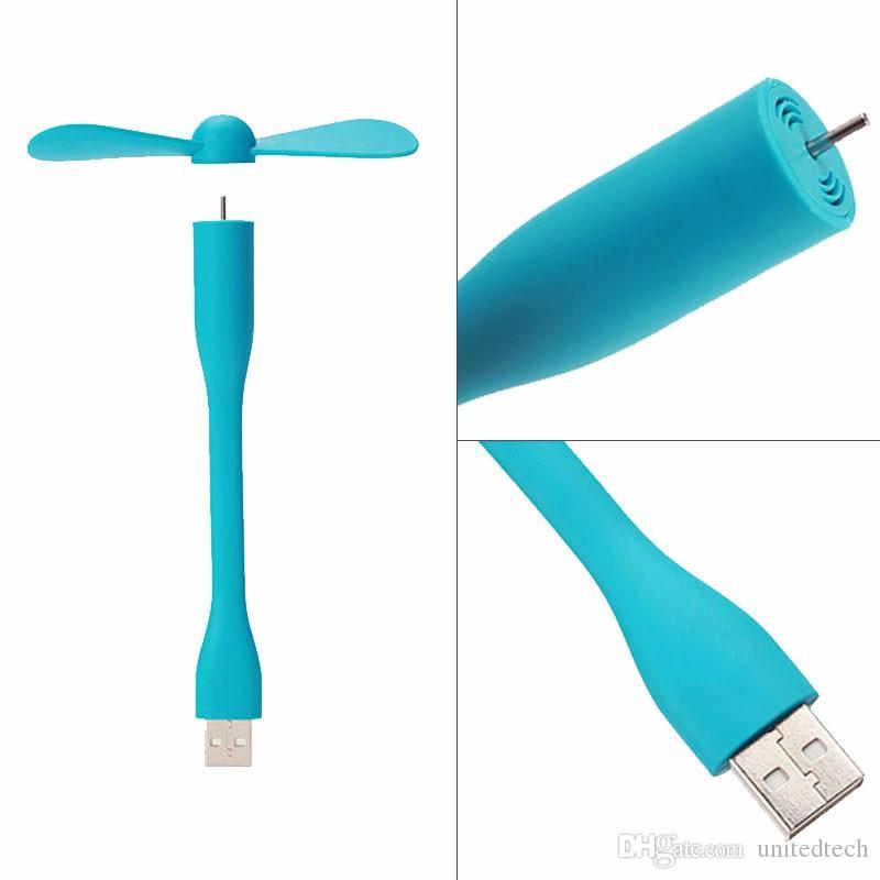 Nuova mini ventola USB creativa Mini ventola portatile flessibile Android Lampada a LED USB Xiaomi Power BankNotebookComputer Gadget estivi