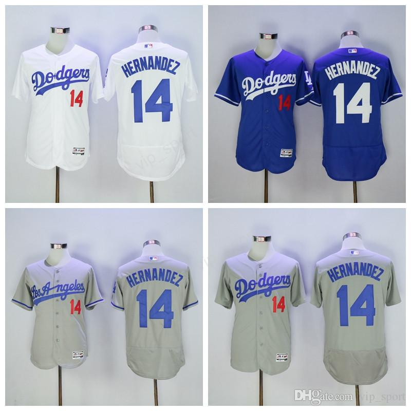 726d59e1c43 ... White Grey Stitched From 2017 Cheap 14 Enrique Hernandez Jersey Men Los  Angeles Dodgers Baseball Jerseys Hernandez Flexbase Cool Base ...