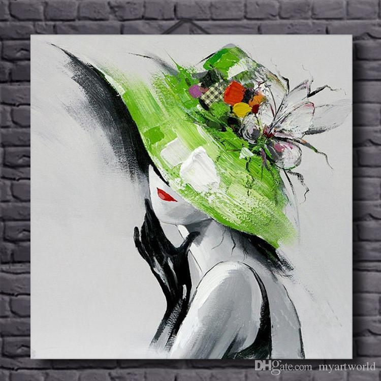 Framed Abstract Beautiful Woman Sexy,Pure Hand Painted Modern Wall Decor Portrait Art Oil Painting On Canvas.Multi Sizes Available al-TOPE