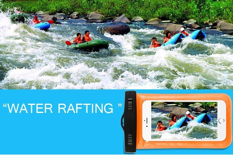 العالمي للحالات للماء لآيفون 12 11 XR XS سامسونج الهاتف شفافة حقيبة واضحة السباحة الجافة الحقيبة غطاء كامل حامي شاشة تعمل باللمس مرنة
