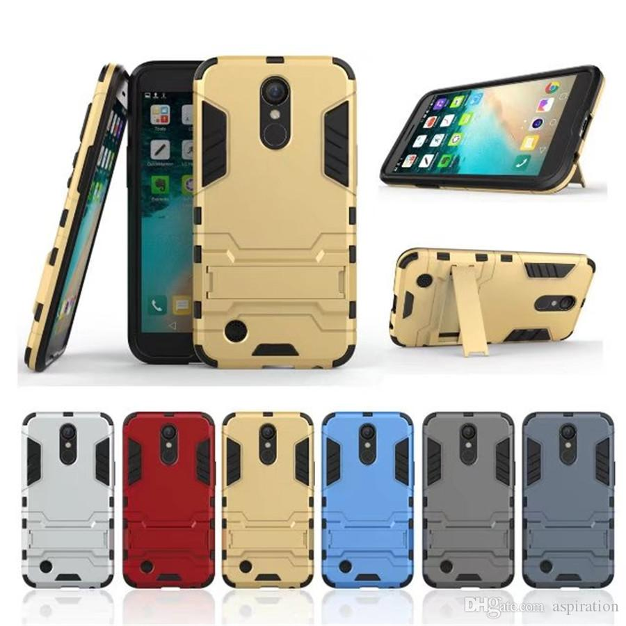 Armor Case Cover For Lg K8 K10 2017 Lv5 Aristo K20 Plus Lv3 2in1 Brushed Hybrid Soft Hardcase Asus Zenfone 3s Max Zc521tl Shockproof Protective Shell With Kickstand Hard