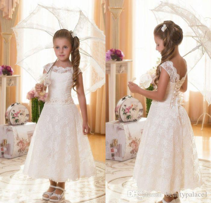 6decba55e Princess Vintage Beaded Arabic 2017 Lace Flower Girl Dresses Cap ...