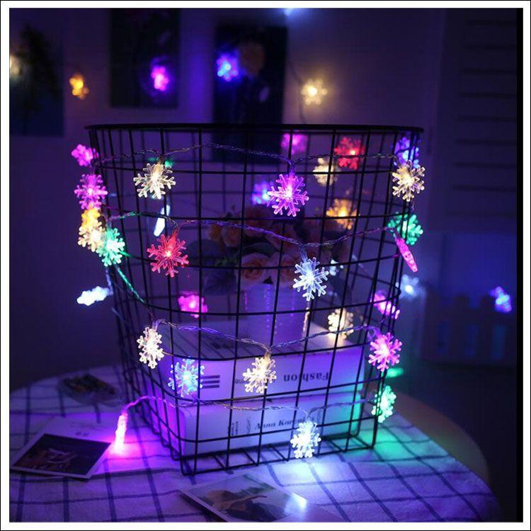 Snowflake LED strip 10M 100 LEDS Xmas decoration string US plug/ Eu plug/ USB 5V/ Dry battery operated