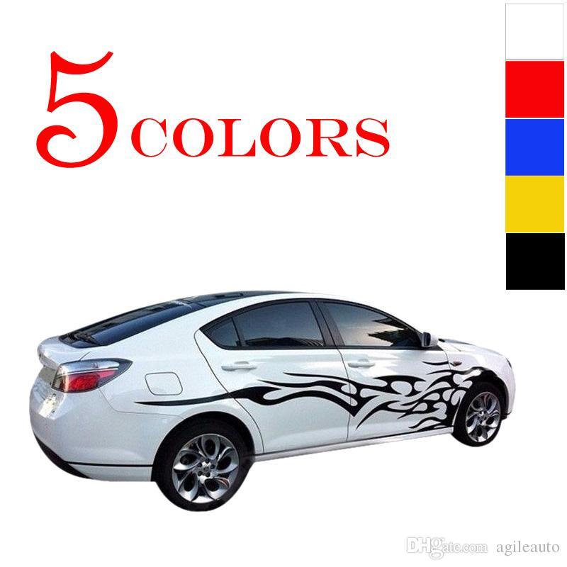 es 1 Par Universal Car El Cuerpo entero Etiqueta Fuego Llama Decoración Vinyl Decals Auto Truck CEA_30M