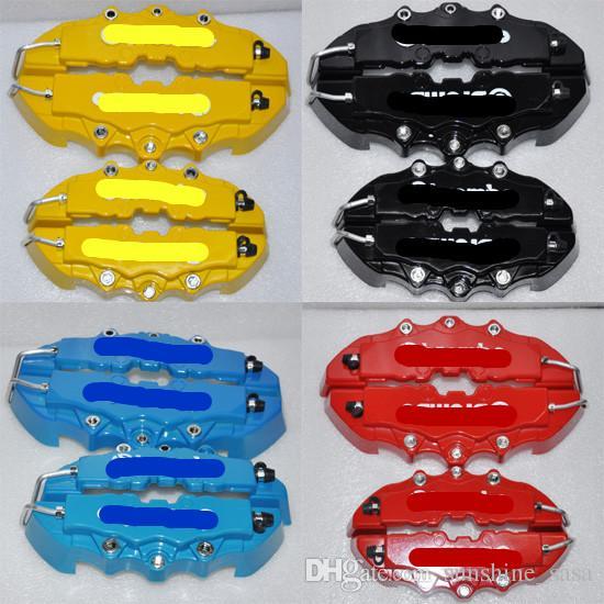 RED 3D-Bremssattel-Abdeckungen Geprägte Brem Fit Zange Abdeckungen Auto Universal Disc Bremssattel-Abdeckungen vorn hinten