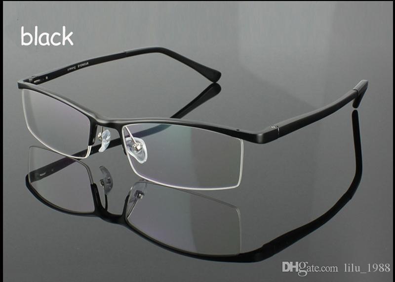 Compre Liga De Alumínio Metade Do Aro Frame Ótico De Alta Qualidade Homens  De Negócios Óculos Miopia E Óculos De Leitura Quadro Oculos De Grau 2036 De  ... 7eec05f240