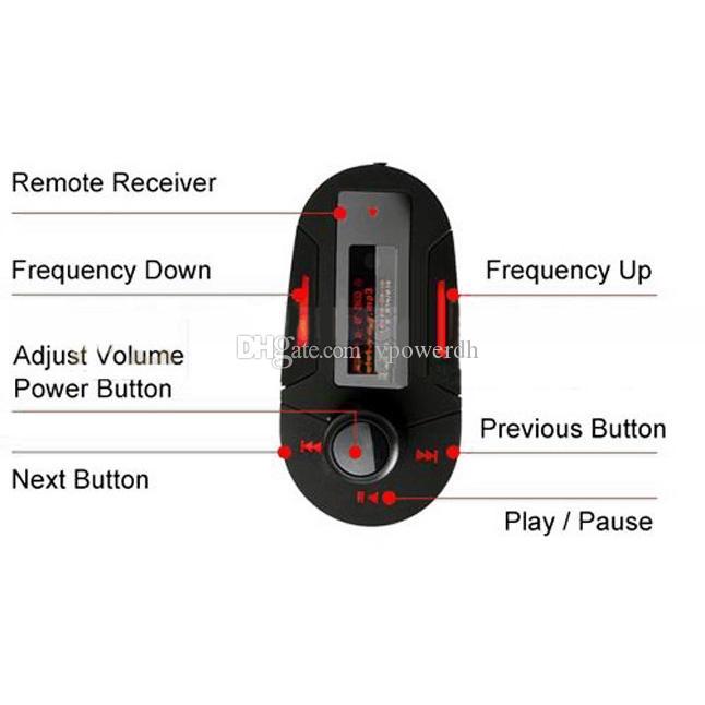 Transmissor FM Rádio Leitor de MP3 SD Card LCD Backlit M00091