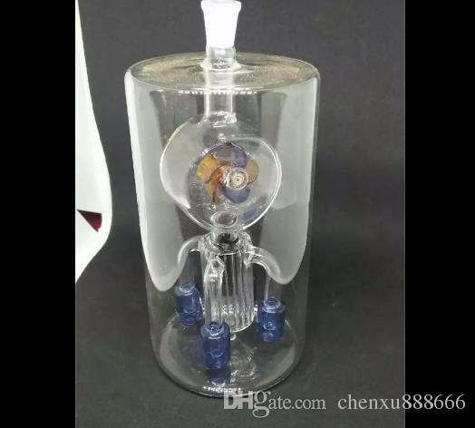 풍차 물 담뱃대 액세서리, 유리 물 파이프 담배 파이프 Percolator 유리 봉 오일 버너 물 파이프 오일 굴 착 기 Dropp