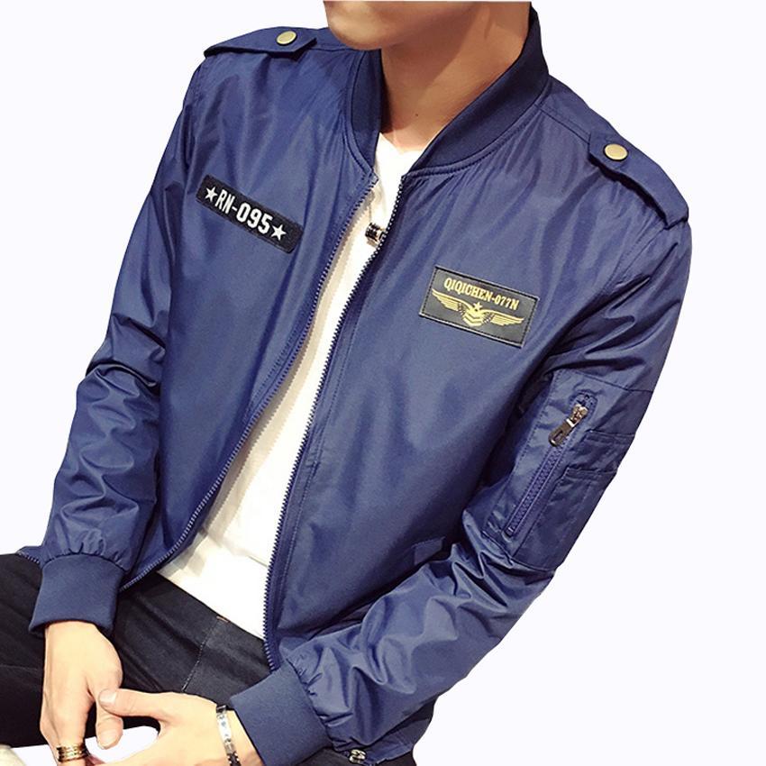 Jackets 2017 New Man Spring Parkas Cotton Bomber Jacket Men Fashion Long Sleeve Pilot Jacket Size M-6xl
