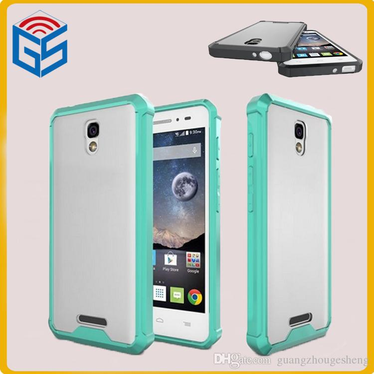 best service 5cf77 7bdd5 New Soft TPU PC Hard Combo Hybrid Mobile Phone Cover Case For Alcatel One  Touch Pop 4 5.0 5051X