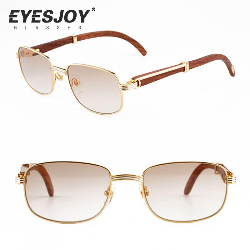 Luxury Vintage Sunglasses Metal Gold Frames Mens Retro Sunglasses ...