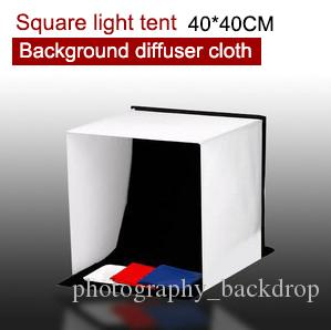 Yeni Taşınabilir 40 CM 16 '' Kare Katlanabilir Fotoğraf Stüdyosu Işık Çadırı Softbox + Arka Planında