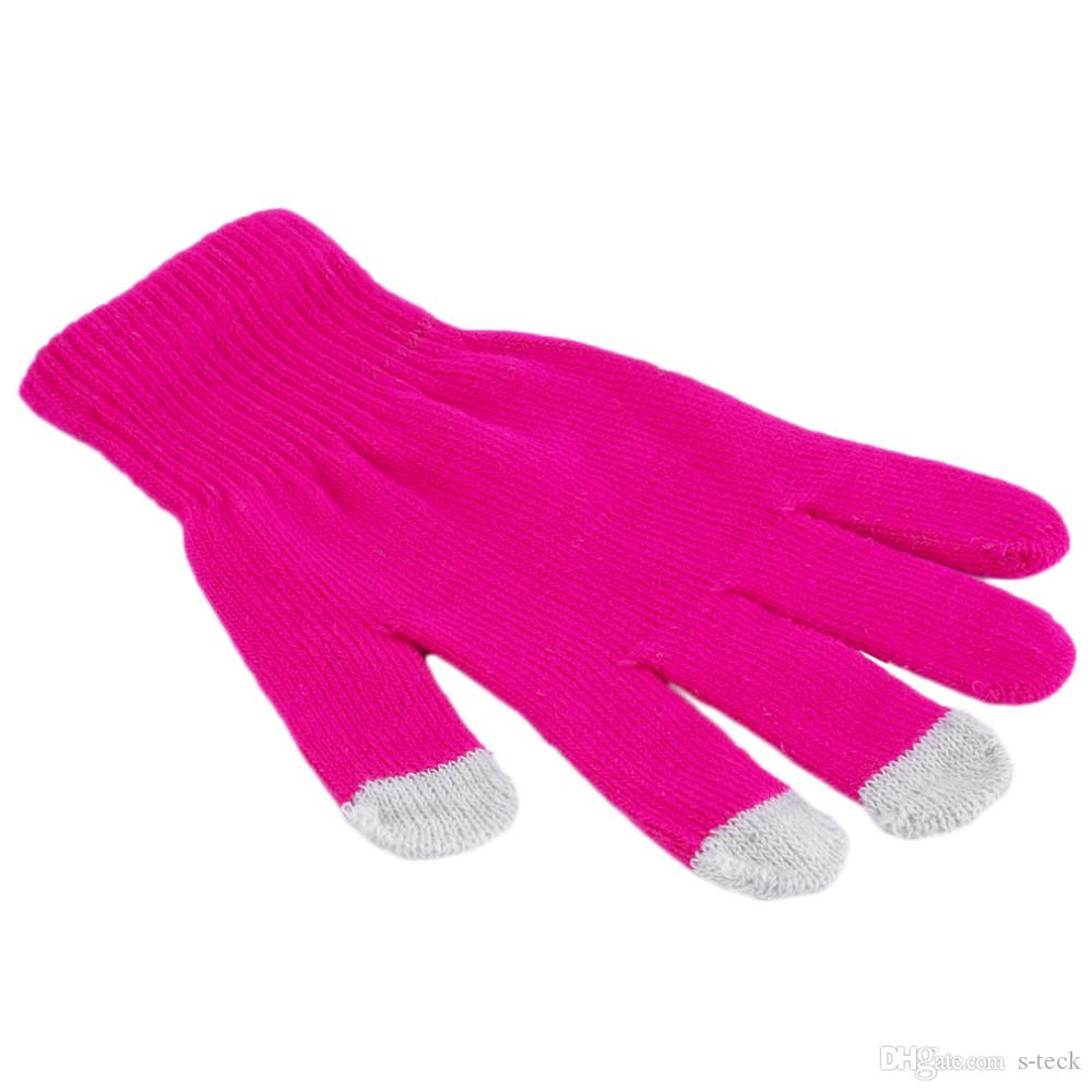 Women Men Gloves Glove Touch Sensory Screen Gloves Soft Cotton Knitted Winter Gloves Warmer Smart For All Phones Guantes Mujer