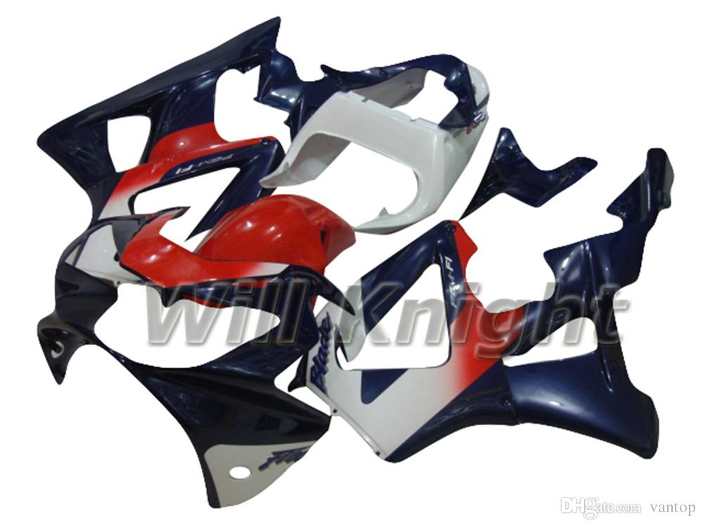 Marco de la motocicleta Kit de carenado de cuerpo completo para CBR900 900RR 929 CBR929 00 01 Kit de carenado de la carrocería de inyección azul rojo