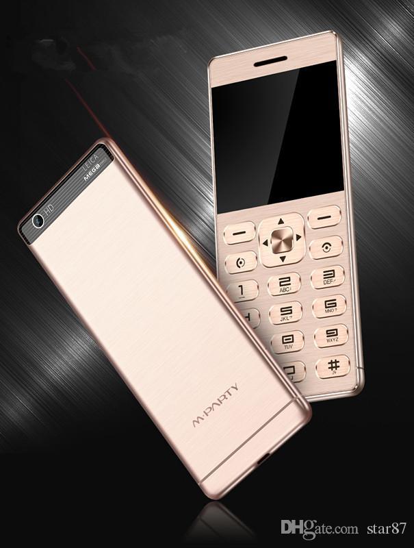 luxury Fashion Unlocked Ultrathin credit card mobile phone dual sim card metal body bluetooth dialer FM MP3 mini cell phone