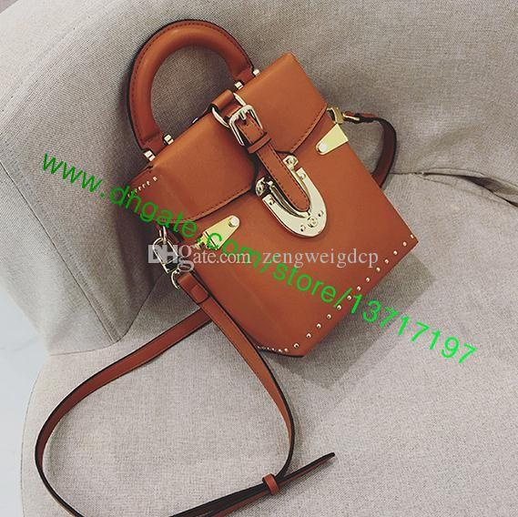 Top Grade Real Leather Brown Canvas Leather Lady Shoulder Bag Women Messenger CAMERA BOX M42999