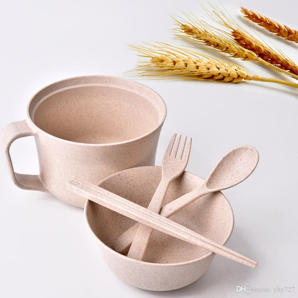 Eco Friendly Dinnerware Unbreakable Wheat Tableware Rl202m Wheat Cup Bowl Wheat Straw Bowls Student Instant Noodles Bowl Green Holiday Dinnerware Sets ... & Eco Friendly Dinnerware Unbreakable Wheat Tableware Rl202m Wheat Cup ...