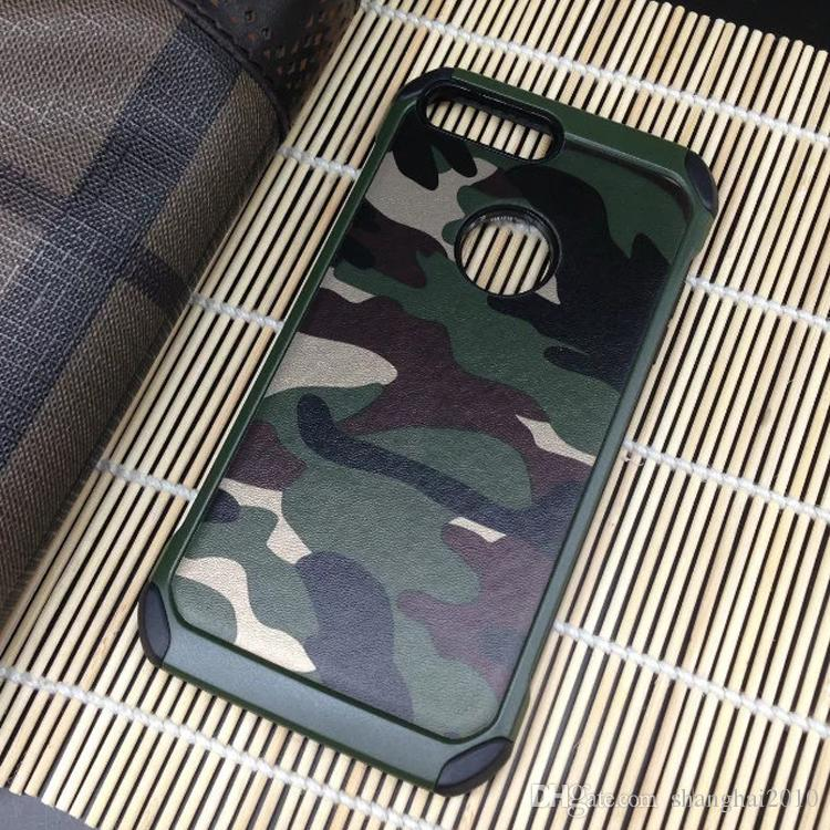 Camouflage PC + TPU Smart Phone Case Back Cover For Iphone 7 Samsung S8 Xiaomi Huawei LG Ipad Asus OPPO Vivo With retail packaging