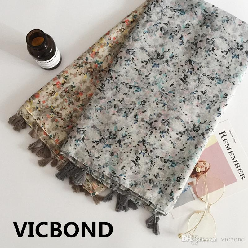 New autumn winter cotton flower literature tassels woman scarf sunscreen warm shawl pashmina fashion Muslim hijab 10pcs/lot