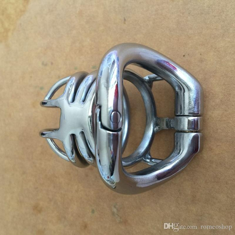 New Fashion Design 60mm length Stainless Steel Small Male Chastity Device Short Cock Cage 4 sizes For BDSM Sex Toys