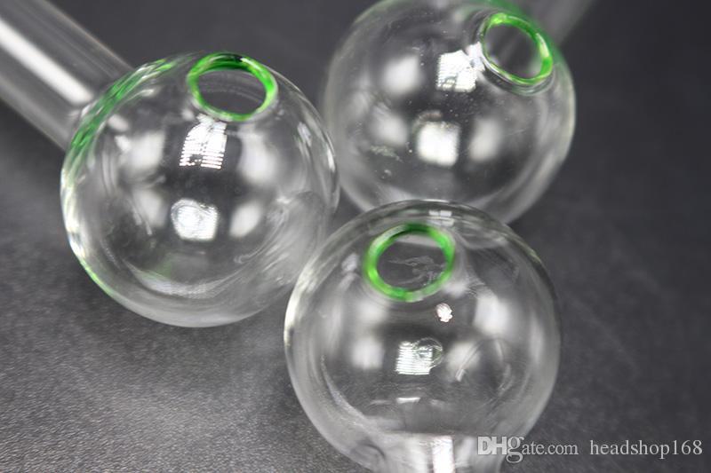 Cor verde de vidro de óleo Burner Cachimbo por Fumar 10cm Pipes Oil Pyrex colorido da mão Burner baratos Pipes Mini água Vidro frete grátis