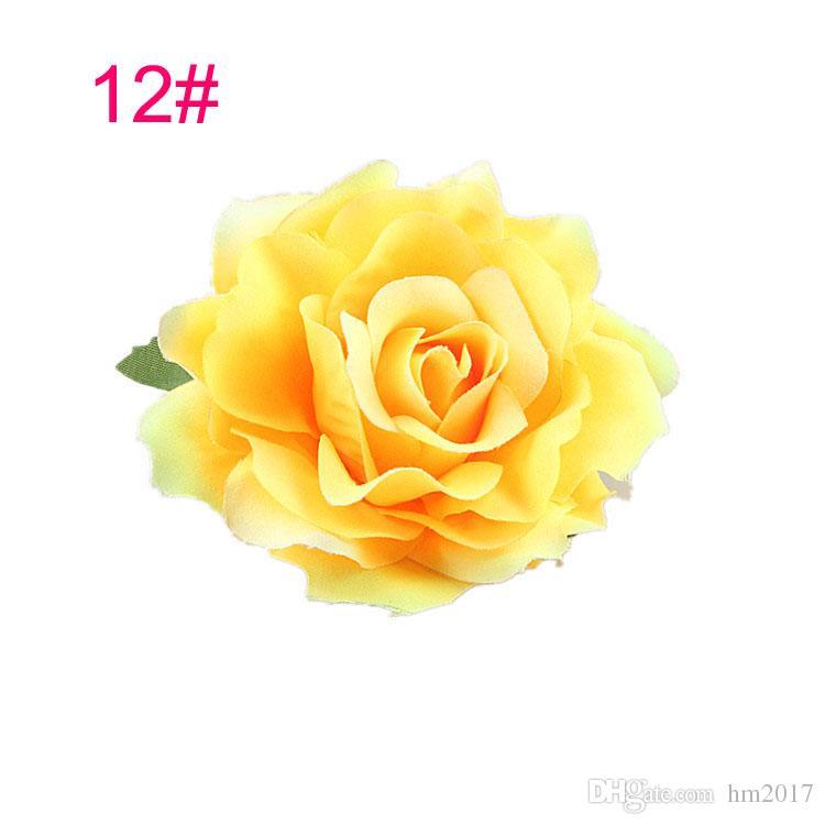 2017 봄 새 목록 웨딩 헤어 스타일 신부 장미 꽃 머리핀 브 로치 파티 신부 들러리 헤어 클립 헤어 밴드 액세서리
