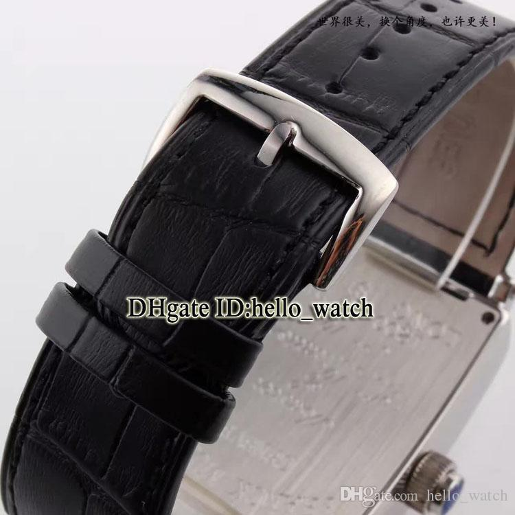 Новый Лонг-Айленд Вегас 1300 VEGAS 1P Whte Dial Автоматические мужские часы Серебряный чехол Черный кожаный ремешок 4 цвета Мужские часы