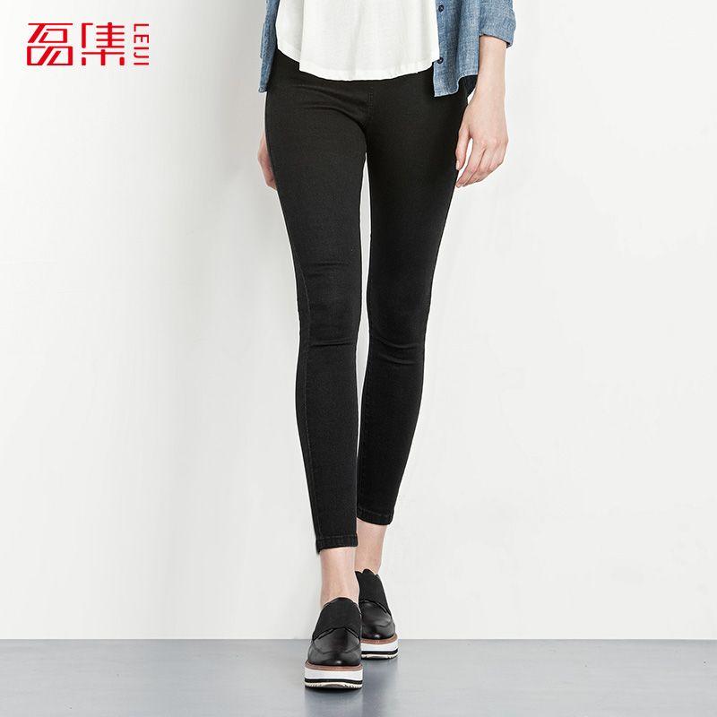 Online Cheap 2016 Autumn 40 120kg Plus Size Women Jeans Femme Elastic Mid  Waist Leggings Skinny Jeans Woman Cotton Capris Denim Pants By Tong04 |  Dhgate.Com