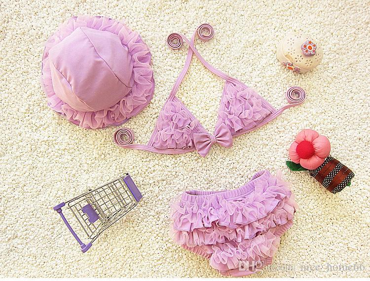 Pretty New Baby Girl Bikini Swimsuit Baby Girl Cute Swimsuit Ruffle Bow Princess Swimwear Bathing Bikini suit Girls Beach Swimwear