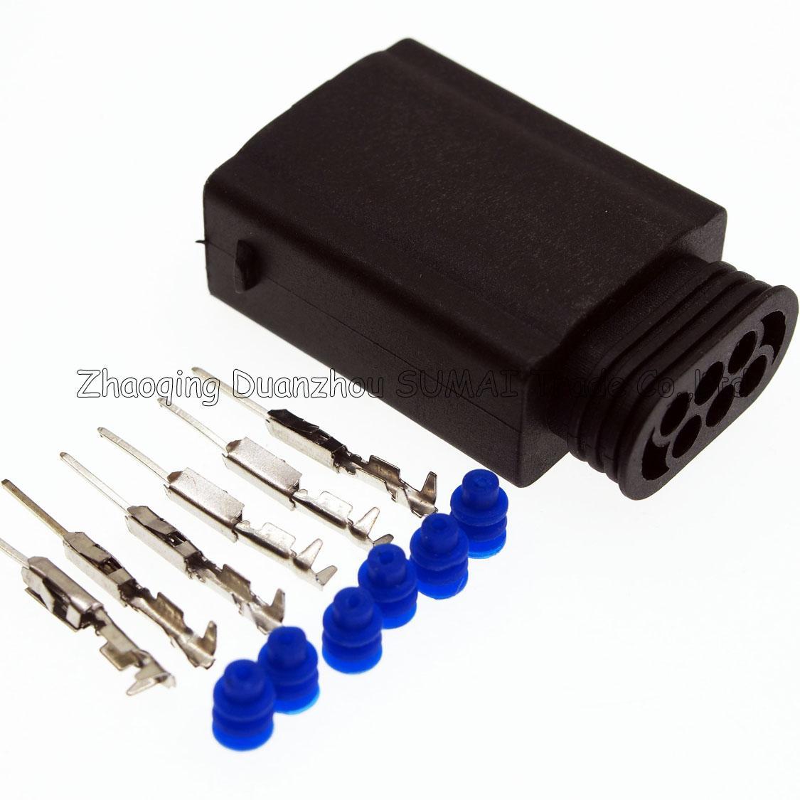 Spina sensore auto limitatore AMP 6 pin / way maschio, connettore sensore posizione farfalla, spina elettrica auto impermeabile BMW