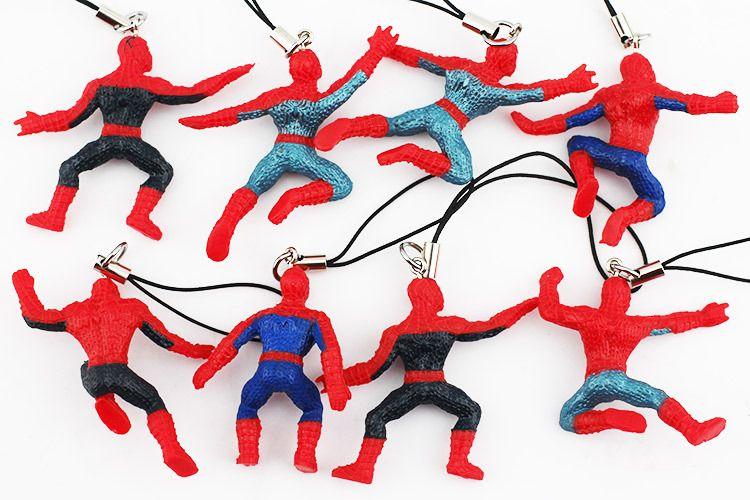 The Avengers Spiderman chaveiro Pendant celular cinta Super Man Movie Plush Figuras hulk 40 pçs / lote Frete Grátis