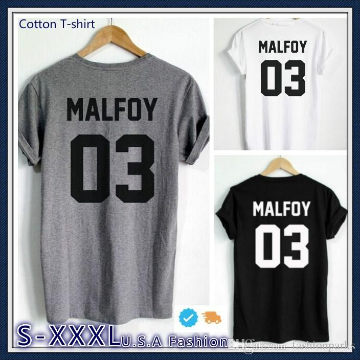 401167d21 Fashion Quote Draco Malfoy T Shirt MALFOY 03 Print On Back Side T Shirts  Letter Printed T Shir Hip Hop Tops Tees Hipster Clothing Shirts With  Designs R ...
