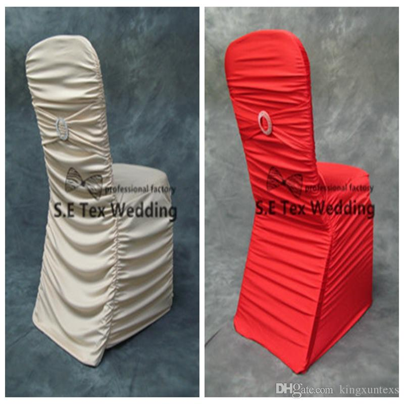 Strange Hot Sale Pleated Lycra Spandex Chair Cover With Buckle Chair Band For Event Decoration Banquet Wedding Chair Cover Folding Chair Cover Rentals Dining Gmtry Best Dining Table And Chair Ideas Images Gmtryco