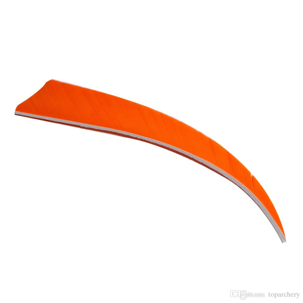 5'' Right Wing Feathers for Glass Fiber Bamboo Wood Archery Arrows Hunting and Shooting Shield Orange Fletching