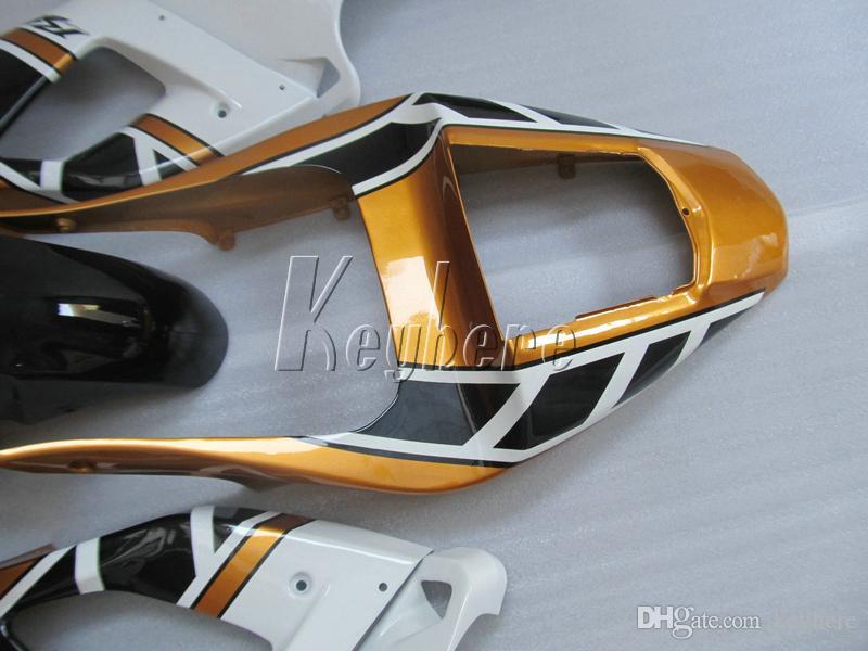 Verkleidungsteile Verkleidungsteile für Yamaha YZFR1 2000 2001 gold weiss schwarz Verkleidungen Set YZF R1 00 01 IT27
