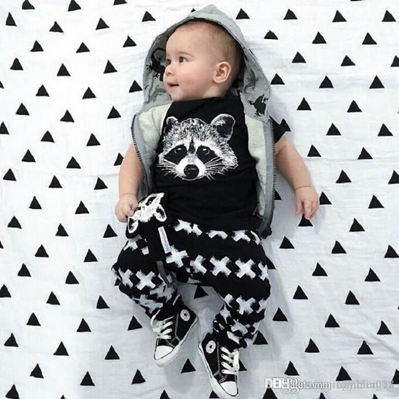 Baby Boys Suit Kids Brand Tracksuits Boys The Fox Head Short Sleeved
