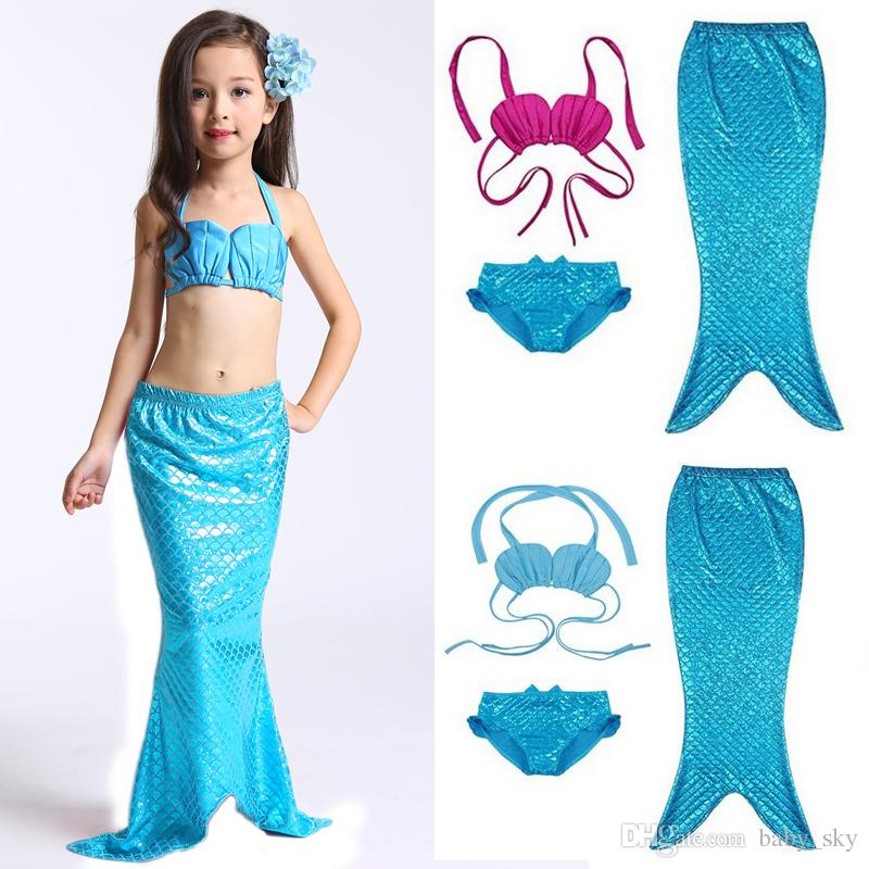 872aeac97fddf 2019 Girls Swimwear Mermaid Swimsuit Kids Bikini Fashion Bathing Swim Set  Toddler Surf Suit Children Clothing New From Baby_sky, $8.74 | DHgate.Com