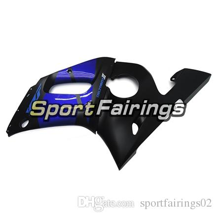 Fairings For Yamaha YZF600 R6 98 99 00 01 02 Year 1998 1999 2000 2001 2002 Plastic ABS Motorcycle Fairing Kit Blue Matte Black Body Frames