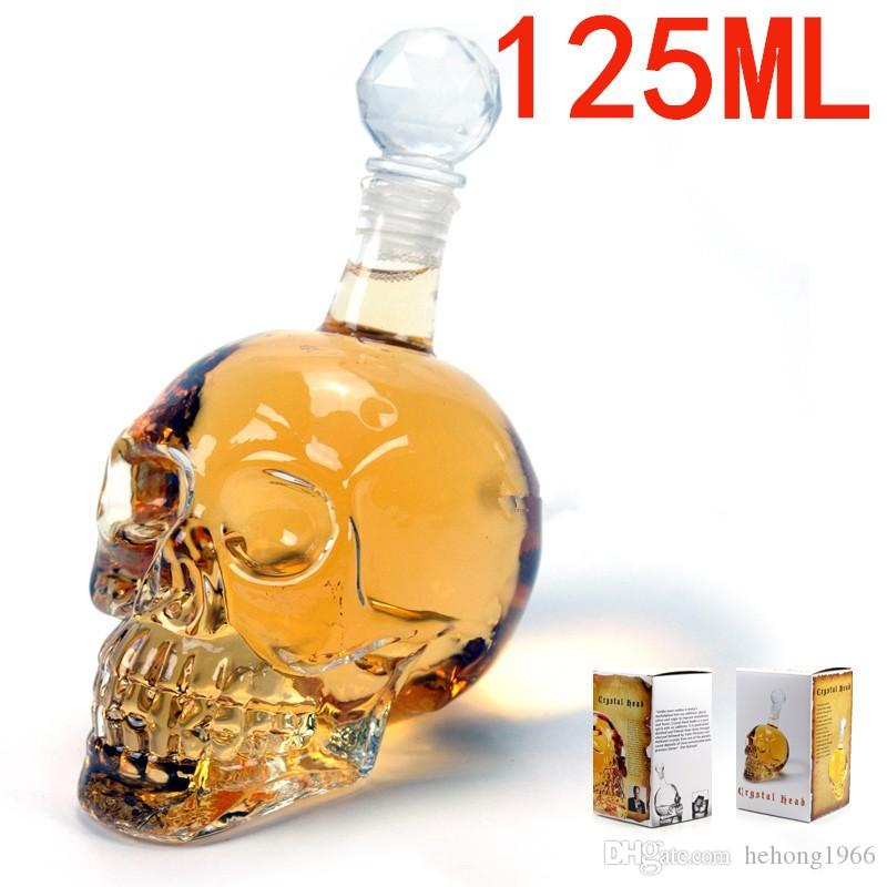 Skeleton Glass Bottle Vodka Creative Transparent Bottles Personalized Contracted Polished Blown Tumblers For Red Wine Filled Hot Sale 18qc I