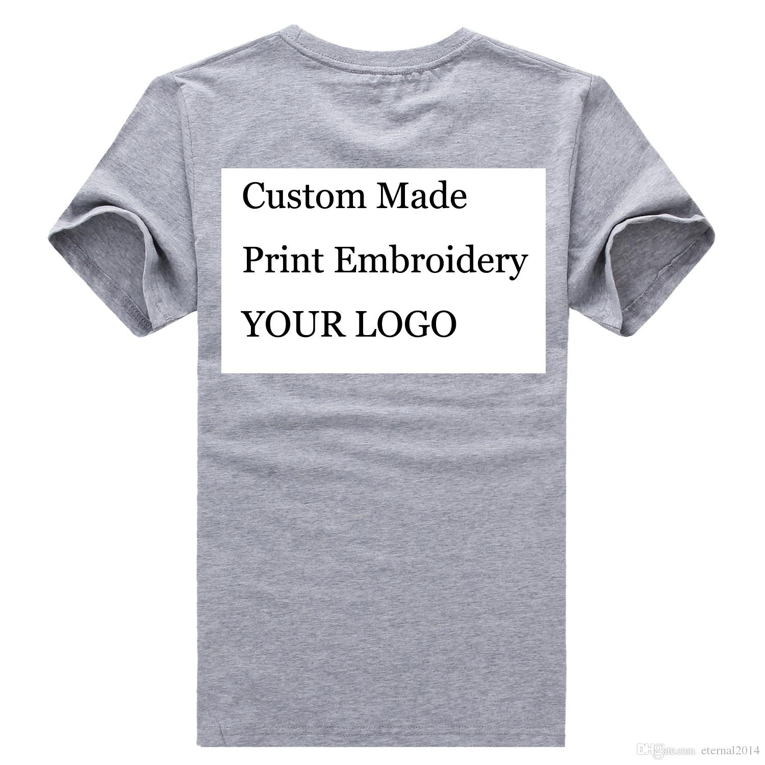 Print Graphic Custom Printed Logo For Worker T Shirts 100 Cotton